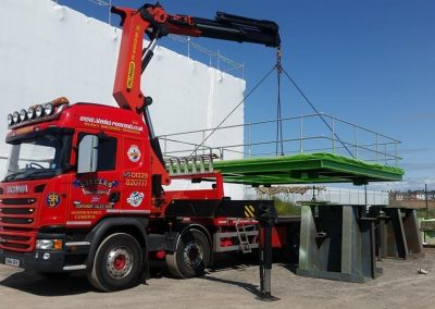 Lorry loader hiab crane truck for hire with operator
