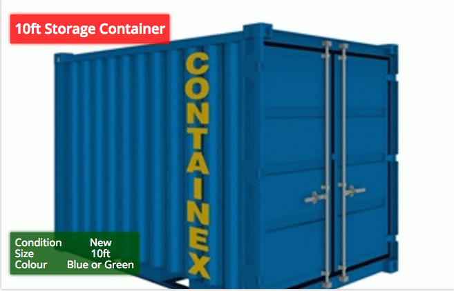 10ft Storage Containers